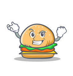 Successful burger character fast food vector