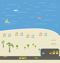 Summer season beach vacation vector