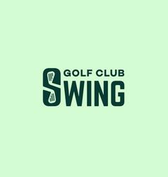 swing logo vector image