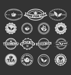Tea logo 3 vector
