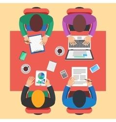 Teamwork brainstorming concept vector image