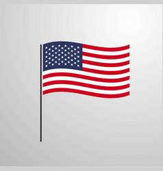 United states of america waving flag vector