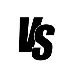 versus icon vector image