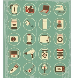 Vintage household appliances vector