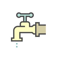 Water leak icon vector