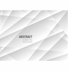 White geometric technology abstract background vector