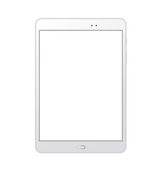 White tablet computer mockup with blank screen vector