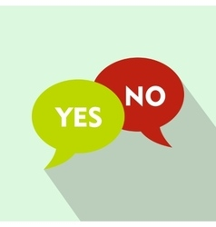 Yes No bubbles icon flat style vector image