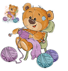a brown teddy bear sitting vector image vector image