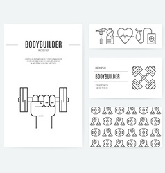 Gym Business Set vector image vector image