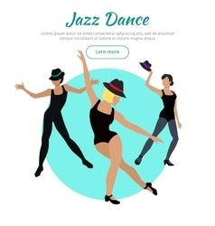 Jazz Dance Conceptual Flat Style Web Banner vector image vector image