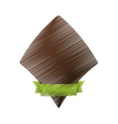 brown label decoration ribbon vector image