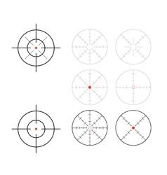Crosshairs vector image vector image