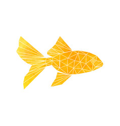 golden fish icon vector image vector image