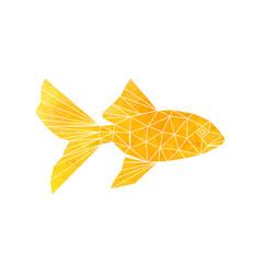 golden fish icon vector image