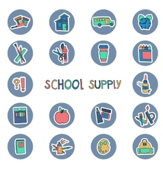 hand drawn school supply icons Knowledge science vector image vector image