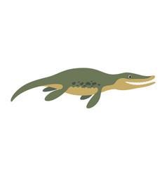 Kronosaurus floating dinosaur vector