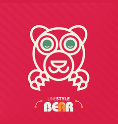 line style bear vector image vector image