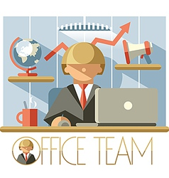 Office Team Director vector image