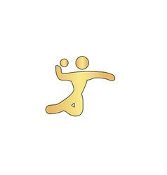 Volleyball computer symbol vector image vector image