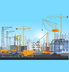 building city under construction website with vector image