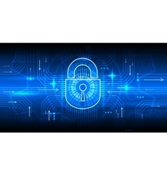 Digital information security concept with lock vector image