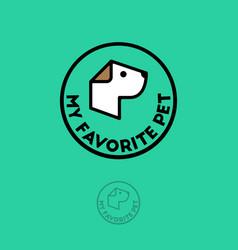 pet shop logo food for dogs emblem goods vector image vector image