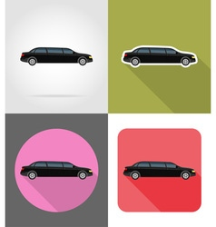 Transport flat icons 44 vector