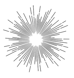 Vintage monochrome star rays vector image vector image