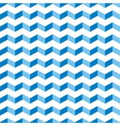 Aztec Chevron blue seamless zigzag pattern vector image