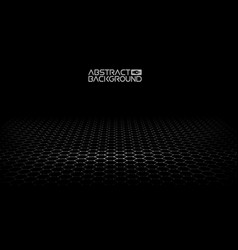 black hexagonal background vector image
