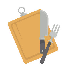 board with tableware vector image vector image