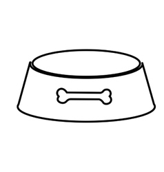 dog dish pet accesory vector image vector image