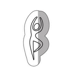Silhouette person dancing icon vector