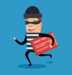 theft identity avatar character vector image