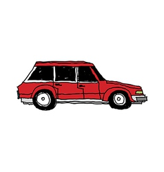 A car is parked vector image