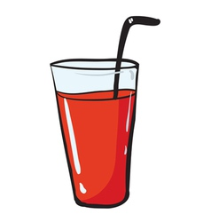 a glass and a straw vector image