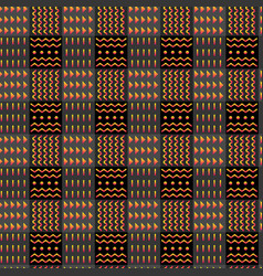 Abstract tribal psychedelic checkered seamless vector