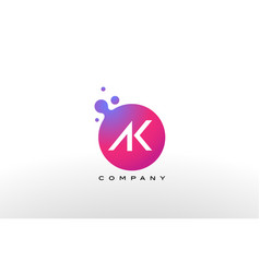 ak letter dots logo design with creative trendy vector image