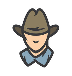 american cowboy head sign vector image