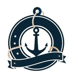 Anchor maritime emblem icon vector