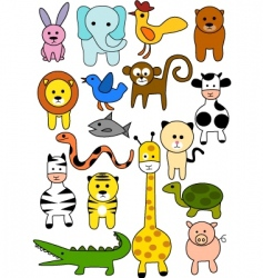 Animal doodles vector
