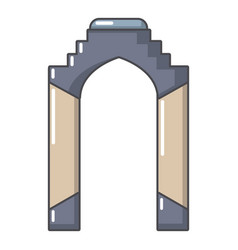 Archway palace icon cartoon style vector