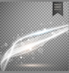 Awesome transparent white light background vector