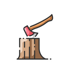 Axe and log vector