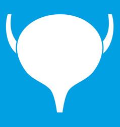 bladder icon white vector image