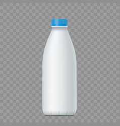 blank white bottle with milk vector image