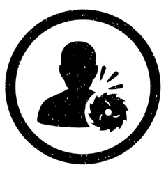 Body Execution Rounded Grainy Icon vector
