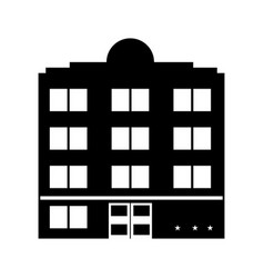 building hotel tourism vector image