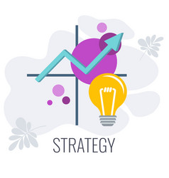 Business and marketing strategic planning matrix vector